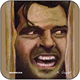 Jack Torrance - Heres Johnny from Stephen Kings The Shining - Original Film Themed Artwork Portrait by Kev Guyler - Coaster design by Coasteroo by Coasteroo