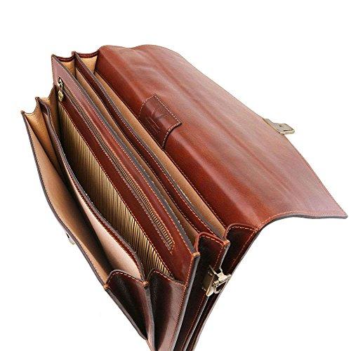 TUSCANY LEATHER TL141544, Borsa a spalla donna Marrone marrone compact