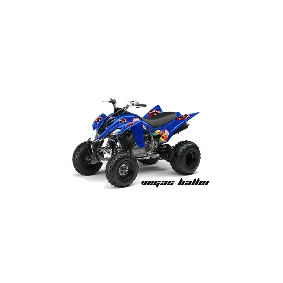 AMR Racing Yamaha Raptor 350 ATV Quad Graphic Kit   Vegas Baller Blue