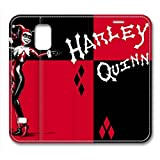 S5 Case, Galaxy S5 Case, Harley Quinn Red Black Fashion PU Leather Galaxy S5 Protective Flip Cover with Foldable Stand Case for Samsung Galaxy S5