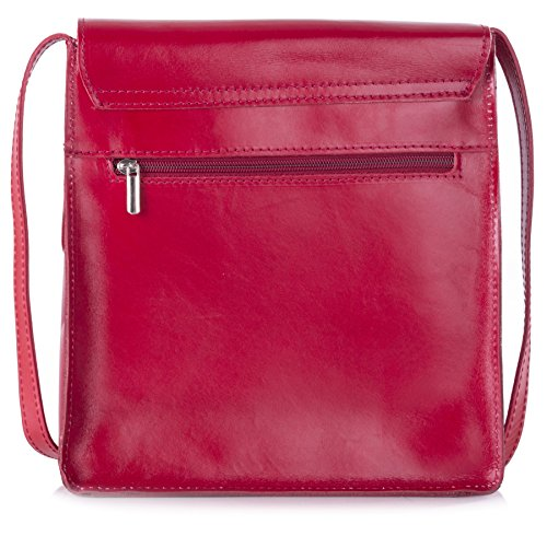 Borsa Tracolla One A Shop Plain Donna Big Red Handbag agqFvv