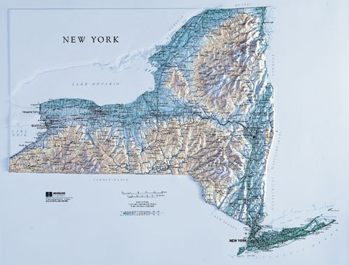 Hubbard Scientific Raised Relief Map 952 New York State Map