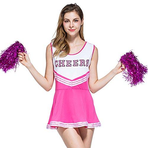 Ladies Sexy Varsity High School Cheer Girl Cheerleading Uniform Halloween Fancy Dress (Sexy Child Costumes)