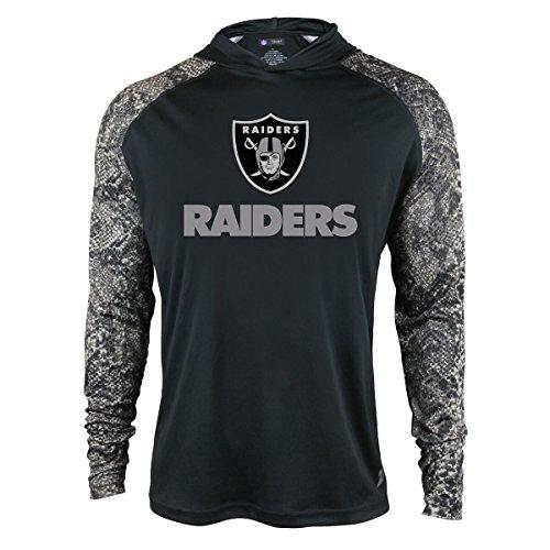 - Zubaz NFL Oakland Raiders Men's Light Weight Synthetic Hood with Digital Print Sleeves, Medium, Black