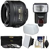 nikon 35 mm kit - Nikon 35mm f/1.8 G DX AF-S Nikkor Lens with 3 Filters + Flash & 2 Diffusers Kit for D3200, D3300, D5300, D5500, D7100, D7200 Cameras