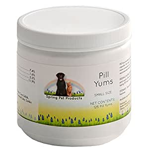 Spring Pet Pill Yums ~ Tasty Pocket Treat to Hide Your Pet's Medication ~ Simply Insert Pill or Capsule in Chewy Hole, Pinch the Ends Closed and Give As a Treat to Your Dog or Puppy ~ Recommended by Veterinarians Small 125 Count