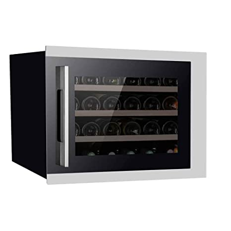 Pevino - Nevera de vino (24 botellas), color negro: Amazon.es ...