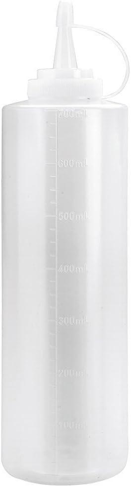 biberón de plástico transparente de 700 mililitros con tapón para diluir champú de perro