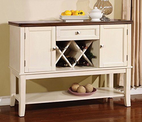 Cheap 247SHOPATHOME IDF-3326WC-SV sideboards, White and Cherry