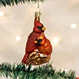 Old World Christmas Pair Of Cardinals Glass Blown Ornament