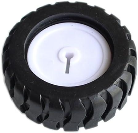 K346 43193mm D-hole Rubber Wheel Suitable for N20 Motor D Shaft Tire Car Robot DIY Toys Parts