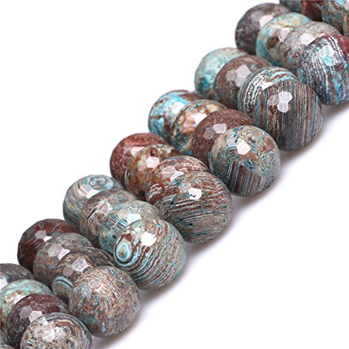 Joe Foreman Blue Crazy Lace Agate Beads for Jewelry Making Natural Semi Precious Gemstone 12mm Round Faceted Strand 15