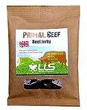 LLS Primal Beef Jerky | 100% Grass Fed Britisches Rindfleisch Snack | Hoch in Protein | Keine MSG Nein Gluten ohne Zuckerzusatz | Paleo genehmigt |1 x 50g Packs | Flavours - Original | Love Life Supplements -
