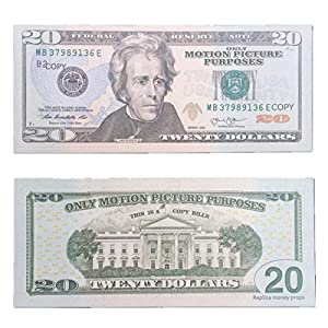 COPY MONEY Total $4, 000 Dollar $20X200 Pcs FAKE MONEY US Currency Props Advertising & Novelty Real Looking New Style Copy Double-Sided Printing - for Movie, TV, Videos