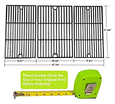 Hongso PCG233 Universal Gas Grill Grate Cast Iron Cooking Grid Replacement, Sold As A Set of 3
