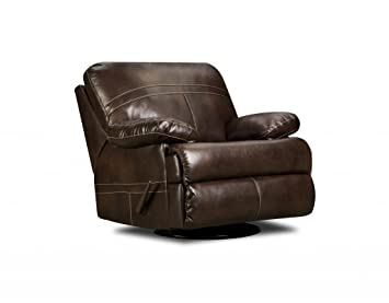 Brilliant Simmons Upholstery 50981 16 Miracle Saddle Bonded Leather Swivel Glider Recliner Caraccident5 Cool Chair Designs And Ideas Caraccident5Info