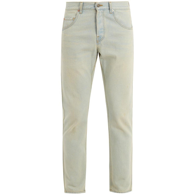 (グッチ) Gucci メンズ ボトムスパンツ ジーンズデニム Logo-print mid-rise slim-leg jeans [並行輸入品] B079GN1V6C 29UK-US