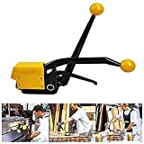 TOPCHANCES Steel Strapping Tool,A333 Manual Steel Strapping Combination Tool Machine for 1/2Inch to 3/4Inch Straps Banding (Ships Via DHL 3-5 Business Days)