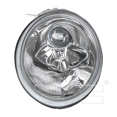 CarLights360: Fits 1998-2005 Volkswagen Beetle Headlight Assembly Driver Side (Left) NSF Certified w/Bulbs - Replacement for VW2502106 ()