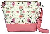 Crest Design Cute Canvas Crossbody Bag Shoulder Bag Purse for Girl and teenage (Pink)