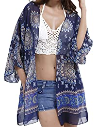 EasyMy Kimono Beach Cover Ups for Women Swimsuit Cardigan