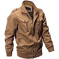 ZooYung Direct Men's Casual Winter Cotton Military Jackets Outdoor Coat Windproof Windbreaker