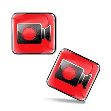 4 X Aufkleber 3d Gel Silikon Stickers Uberwachungskamera Kamera