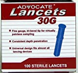 Advocate Lancets 30g 100 Sterile Lancets [Health and Beauty]