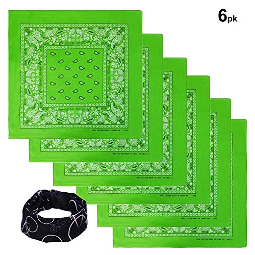 Basico Bandanas Value Pack 100% Cotton Paisley Head
