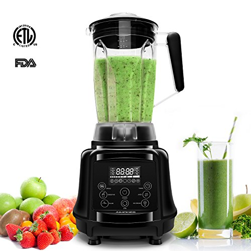 AIMORES Blender for Smoothies Heavy Duty, 75oz 3 in 1 Programmed Commercial High Speed Juice Blender