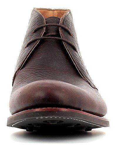 Gordon & Bros Greg 5531 Flex N Rahmengenähter Herren Schnürstiefel, Desert Boot, flexible Goodyear welted Sohle für perfekten Laufkomfort, Pull-up Leder Used Effekt, für Business, Freizeit Brown