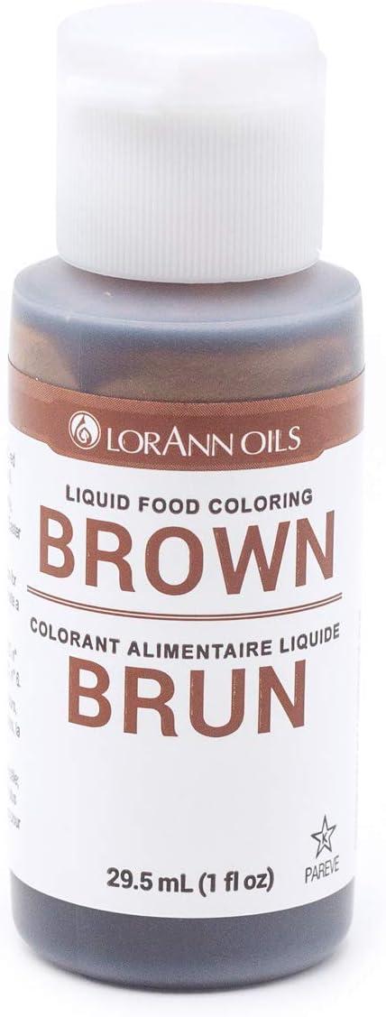 LorAnn Brown Liquid Food Color, 1 ounce bottle
