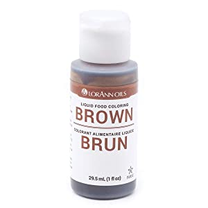 LorAnn Brown Liquid Food Color, 1 ounce squeeze bottle