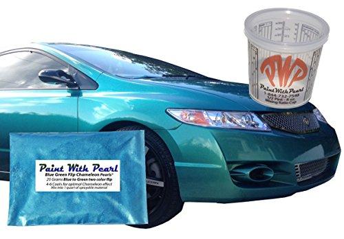 25g Blue Green Flip Chameleon Paint Powder - Color Shift Paint Pigment - For Any Custom Paint, Powder Coat, or Epoxy Coating