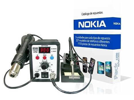 Estación Soldadura y Aire Caliente + 1135 Repuestos Nokia: Amazon.es: Electrónica