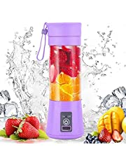 BLUWTE Portable Blender, Personal Blender, Mini Blender For Smoothies, Electric Fruit Mixer, with USB Charge, Six 3D Blades for Excellent Blending, 380 ml