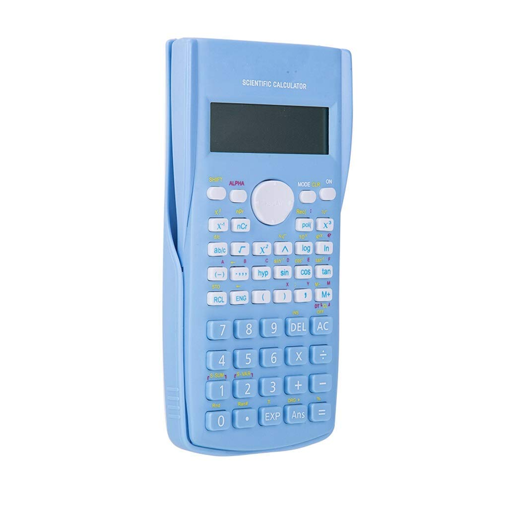 Sooiy Calculadoras Calculadora de Moda Calculadora cient/ífica Multifuncional para Estudiantes de Secundaria Junior Azul//Rosa//Blanco Calculadoras de Oficina,Blue