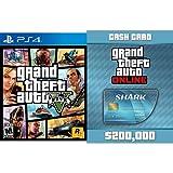 Gta Shark Card Best Deals - Grand Theft Auto V - PlayStation 4 + Grand Theft Auto V: Tiger Shark Cash Card - PS4 [Digital Code] bundle