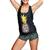 Women Sporty 3 Pieces Tankini Set With Panty Boyshort Or Triangle Briefs Swimsuit Swimwear Bathing Suit