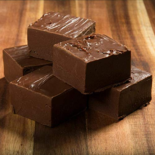 Chocolate Fudge, Betsy's Fancy Fudge, Certified Kosher Ingredients, 4 Wrapped Pieces,1 Pound, Creamy, Premium Gourmet, Homemade Fresh Fudge, Makes Great Gift, DELICIOUS HOMEMADE FANCY FUDGE!