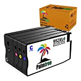 952XL Black Color High Yield Ink Cartridges Palmtree Replacement for HP 952 952XL Combo, Compatible with HP OfficeJet Pro 7720 7740 8210 8216 8710 8720 Printer (1 Black, 1 Cyan, 1 Magenta, 1 Yellow)