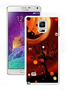 Design for Mass Customization Cool Pumpkin Halloween White Samsung Galaxy Note 4 Case 1
