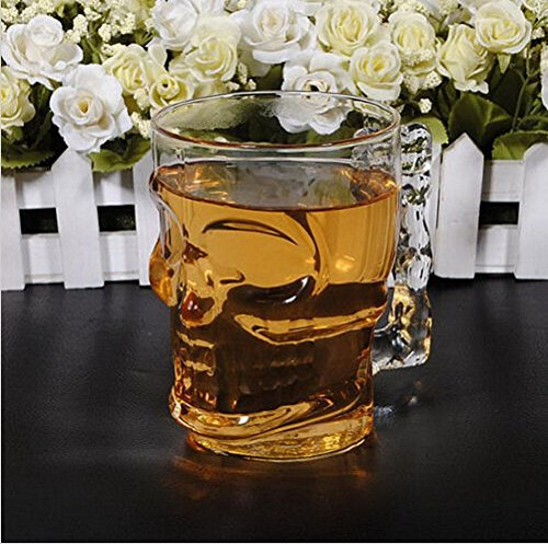 redhoney 7 Color LED Light Up Flashing Cola Drnduction Skull Cup Magic Cup 14 oz Automatic Light When Pour Water ,Ideal foinkware Glass Plastic Ir Party Xmas Bars Clubs Drink