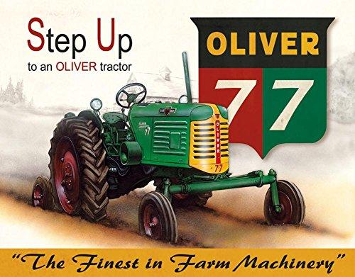 Oliver - 77 Tin Sign 16 x - Sign Vintage Oliver
