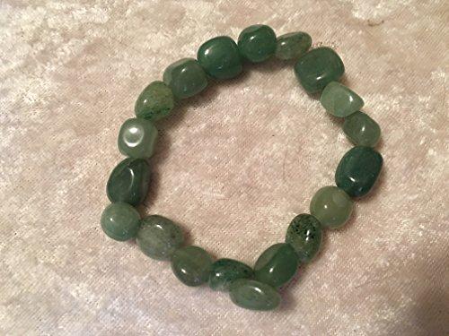 natural prehnite gemstone tumbled beaded stretch bracelet (Nugget Beads Prehnite)