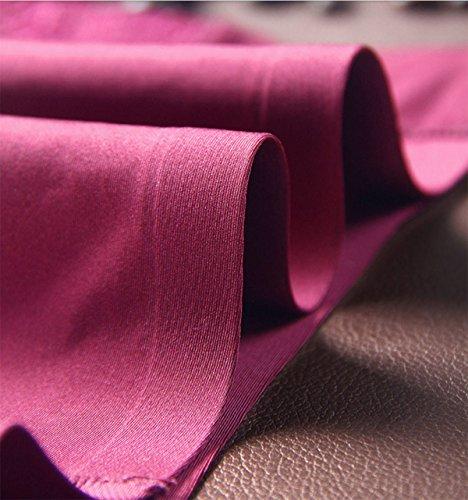 Ultra-cómoda Ropa Interior Triangular De La Mujer Inconsútil Atractivo Del Hielo Del Cordón De Seda De Tela De Algodón De La Cintura Productos Briefs (4 Paquetes) A1