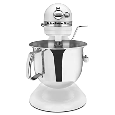 KitchenAid Certified Refurbished RKSM6573WH 6-Qt. Professional Bowl-Lift Stand Mixer - White