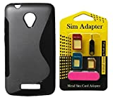 Micromax Bolt Q335 Back Case Cover + Metal Sim Card Adapter (Mega Offer)