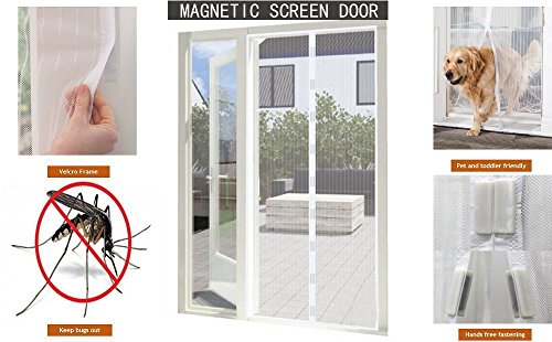 Magnetic Floding Bottom Hands Free Curtain