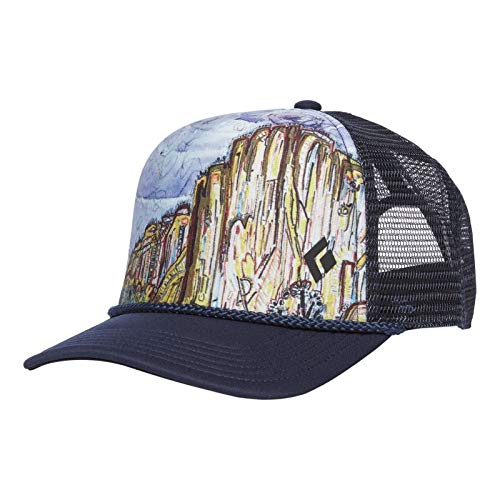 Black Diamond Flat Bill Trucker Hat - El Cap ()